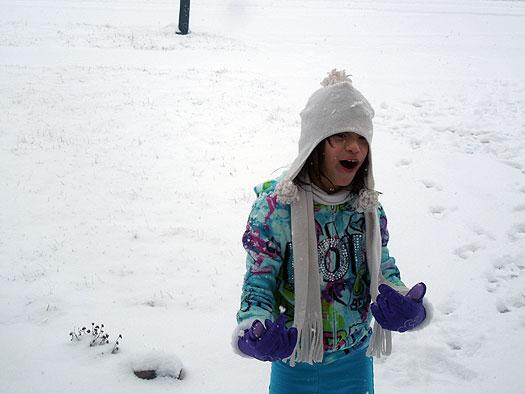 Amelia in snow
