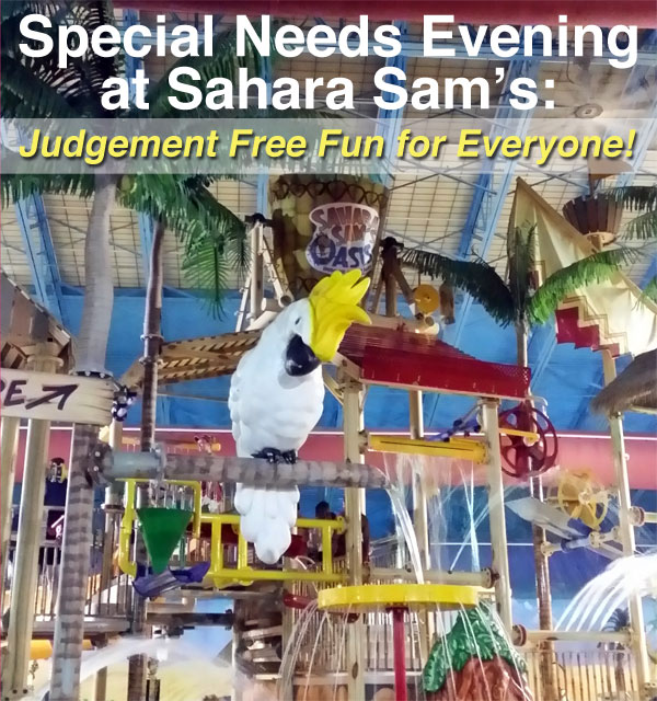 special needs night at sahara sams