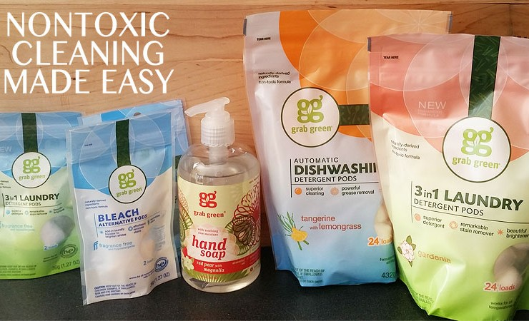 Grab Green: Nontoxic Cleaning Products to Grab & Go!