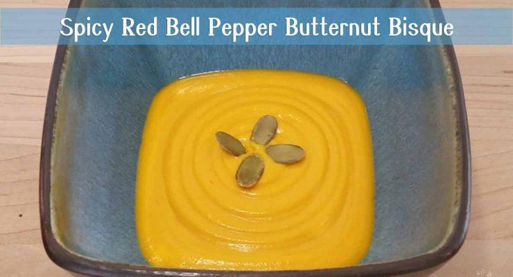 Spicy Red Pepper Butternut Squash Bisque