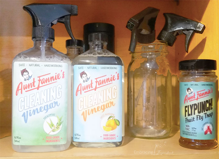 #plantbased #naturalcleaning products from Aunt Fannie's for #HealthierHousekeeping
