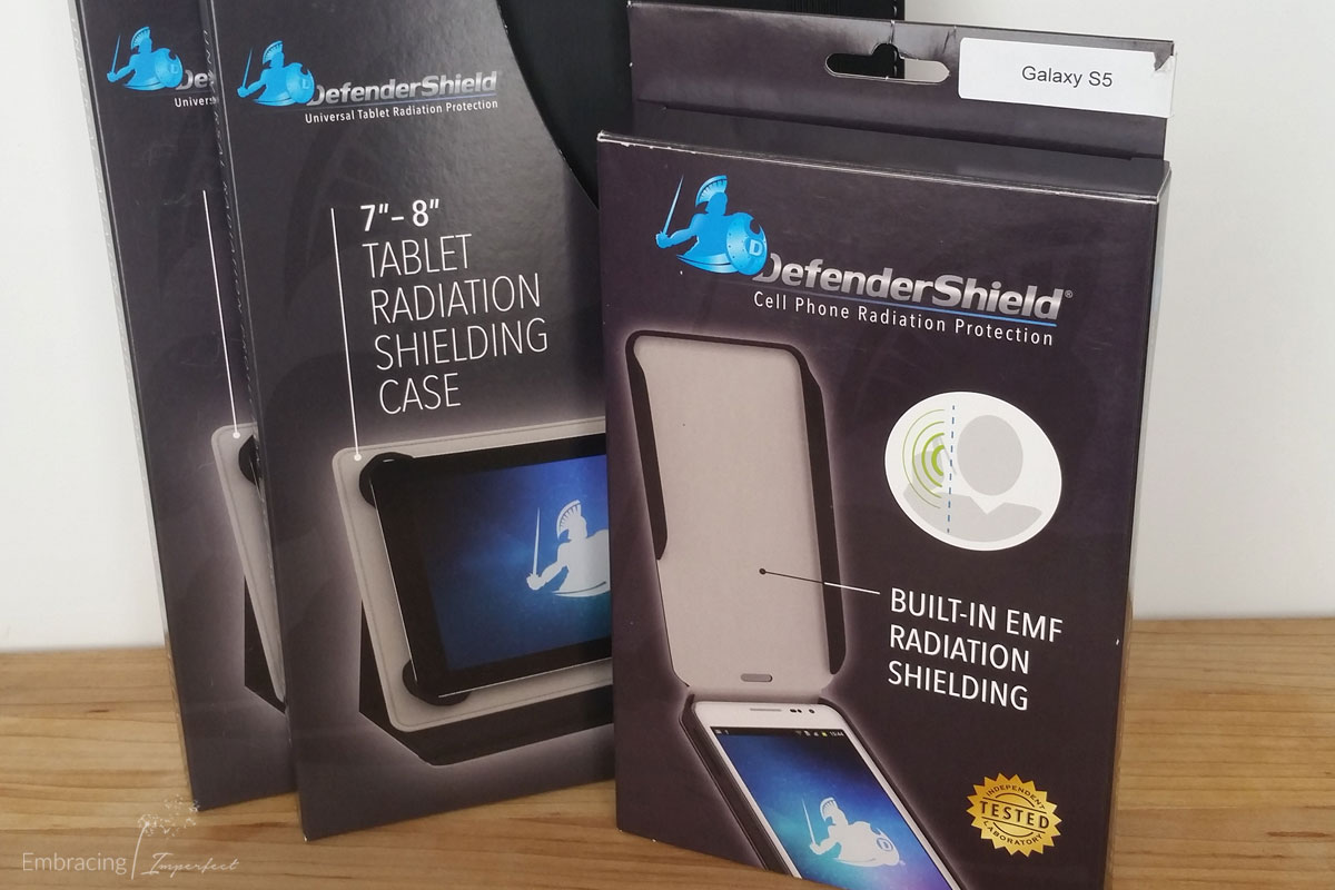 defendershield tablet and cellphone emf protection