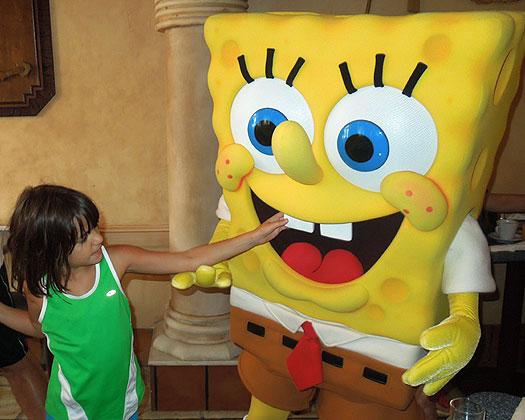 Zoe and Sponge Bob