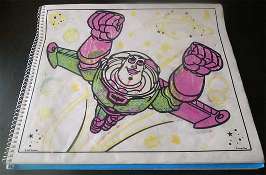 Buzz Lightyear Colored in Properly