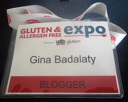Gluten Free Expo badge