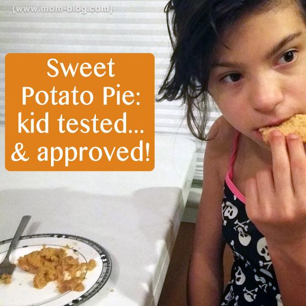 Girl eats pie