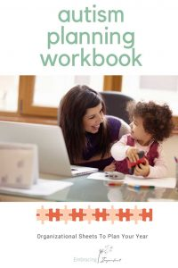autism planning workbook - autism books