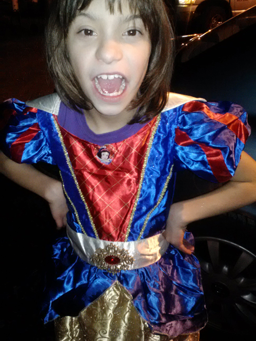 Amelia as Snow White