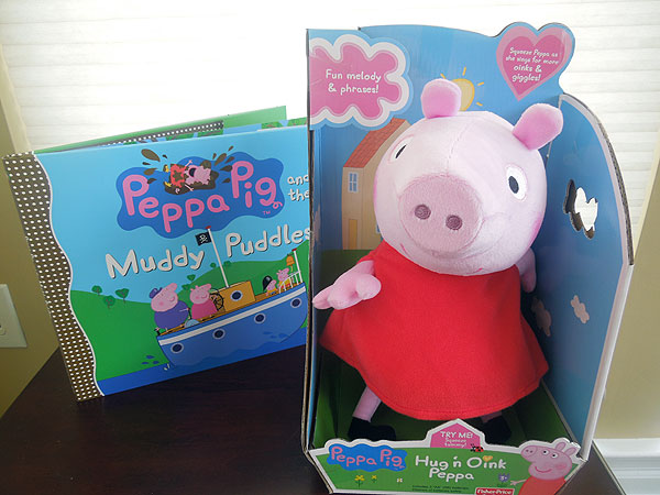 Peppa Pig Plush & Book