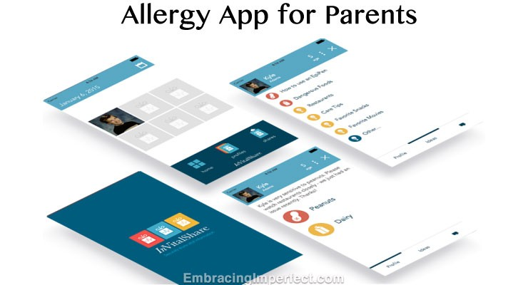 InVitalShare Allergy App: Helping Your Team Track Your Child's Allergies #FoodAllergy