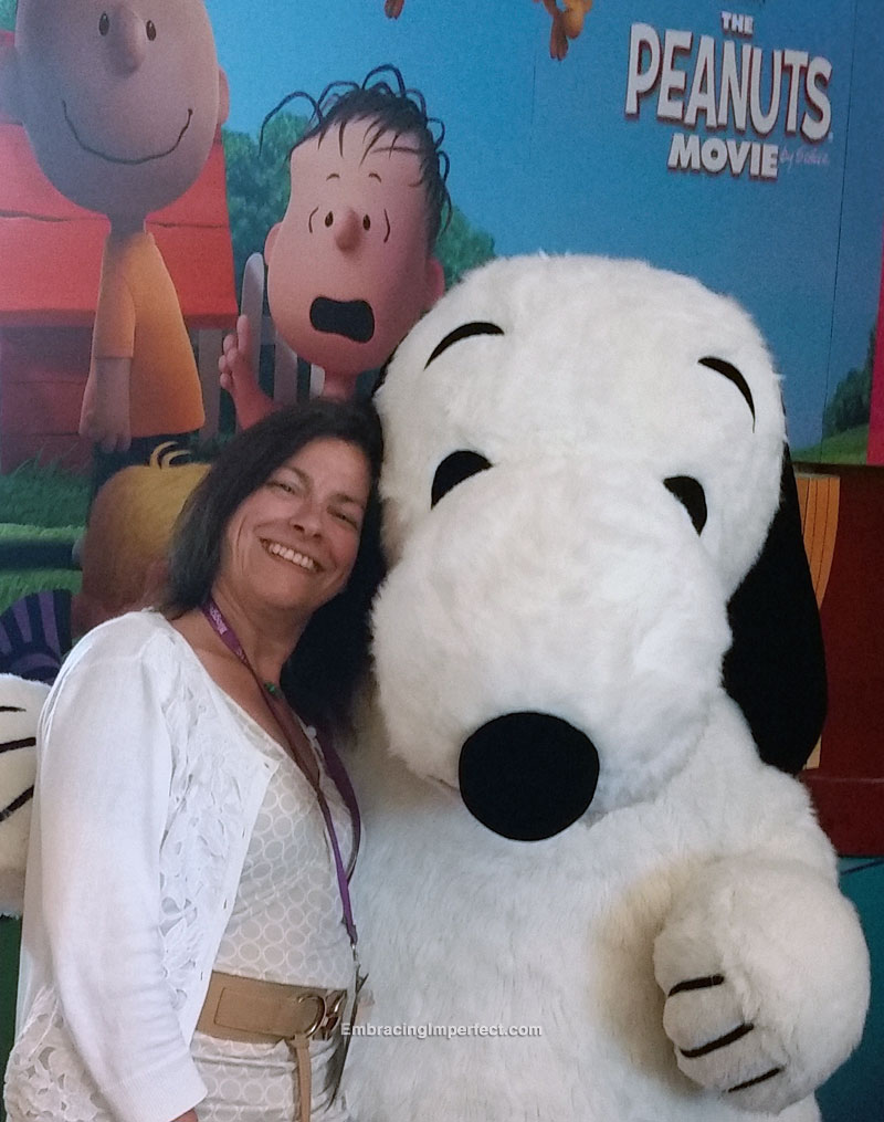 me and snoopy