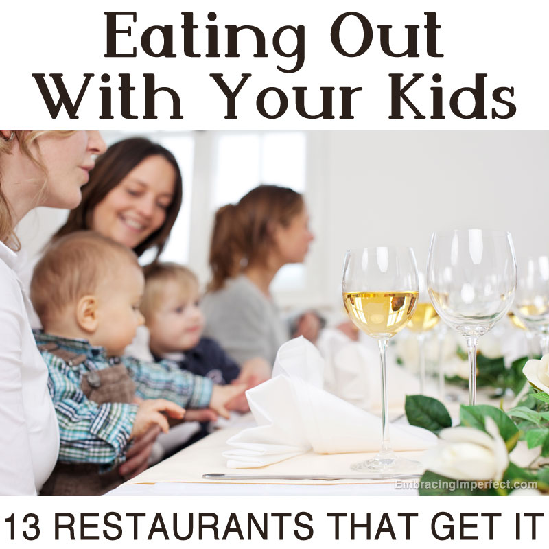 eating out with your kids