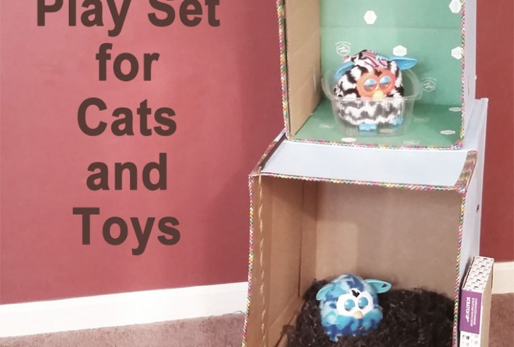 Project: Recycled Cardboard Play Set Tutorial for Cats & Toys