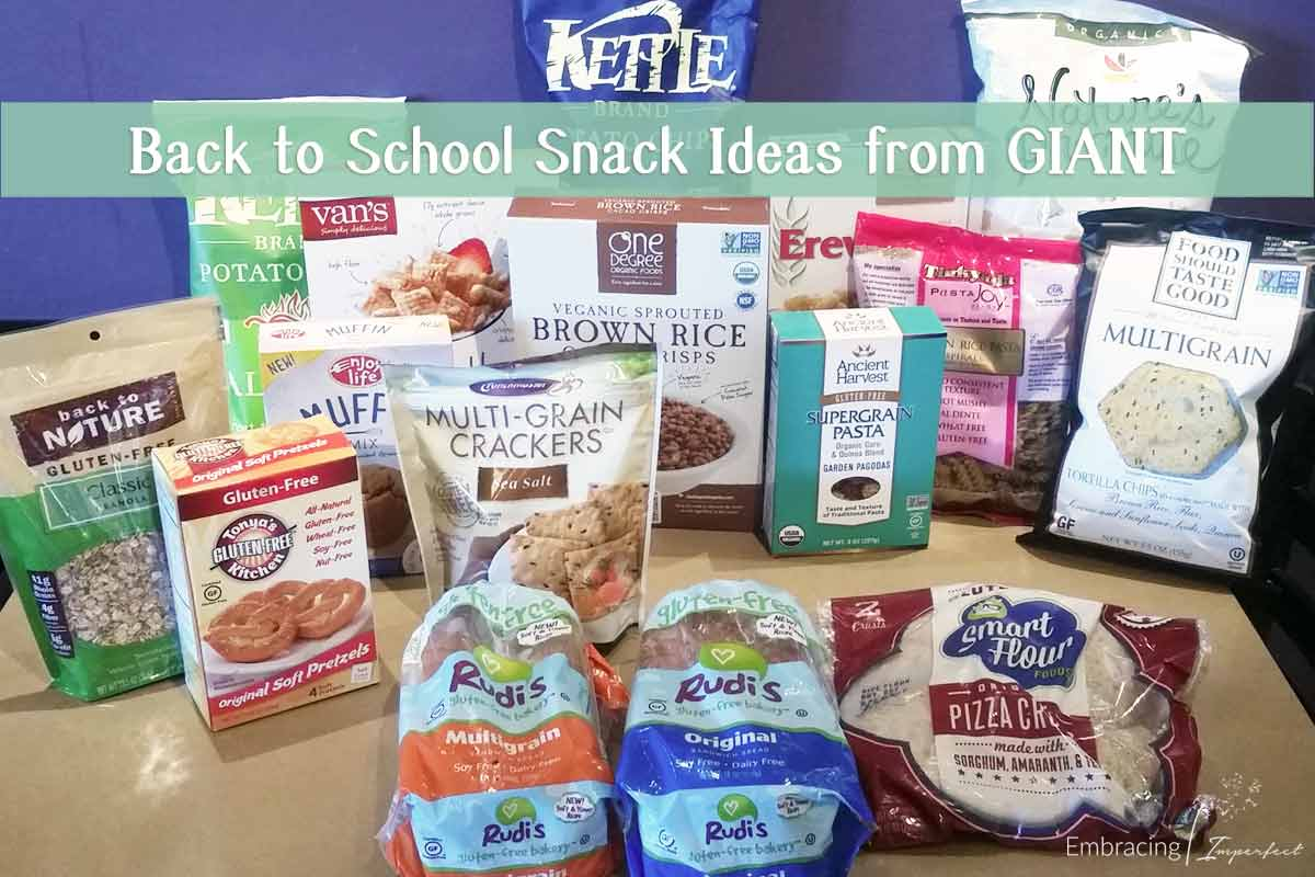 back to school snacks from giant foods