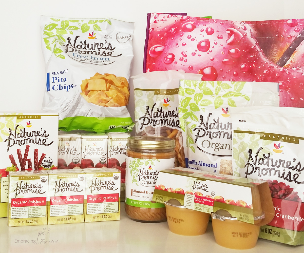 Nature's promise organic back to school snack options