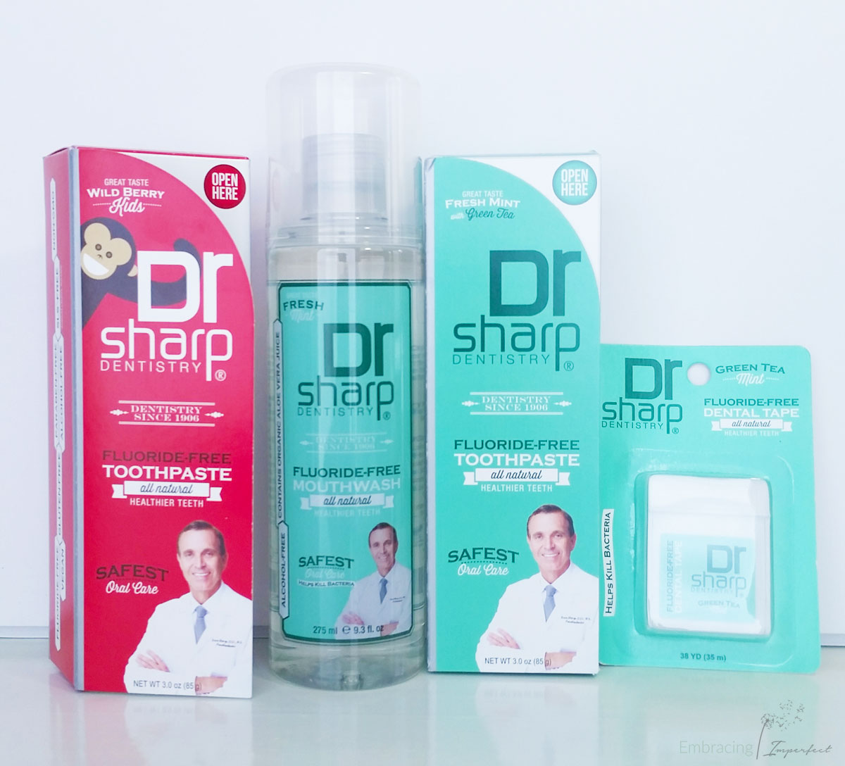 Dr. Sharps fluoride free dental products