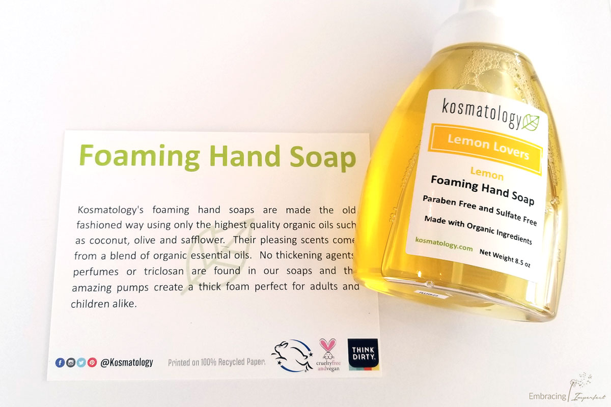 kosmatology nontoxic personal care products hand soap