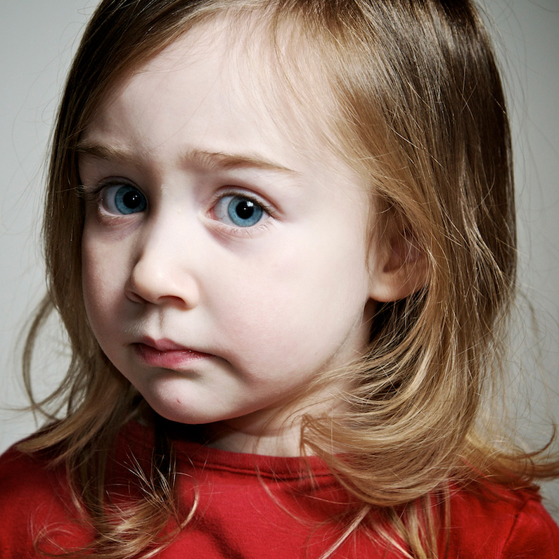 A child's stress may not be easy to discover