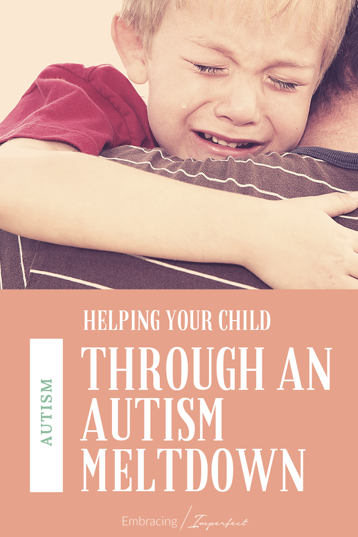 Steps for calming your child during an autism meltdown #ad